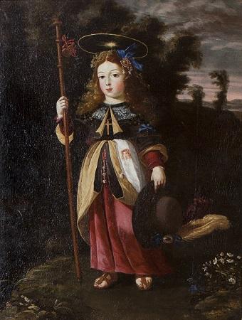 Menino Jesus Peregrino (1676) - Óleo sobre tela. Col. Particular