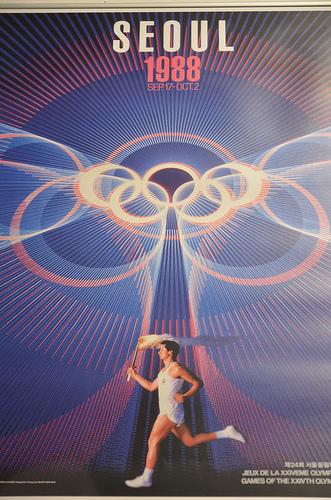 Cartaz dos Jogos Olímpicos de Seul, em 1988