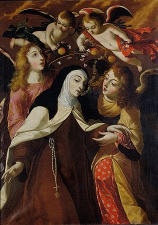 Santa Teresa Esposa Mística (1672) - Óleo sobre tela. Paróquia de Cascais