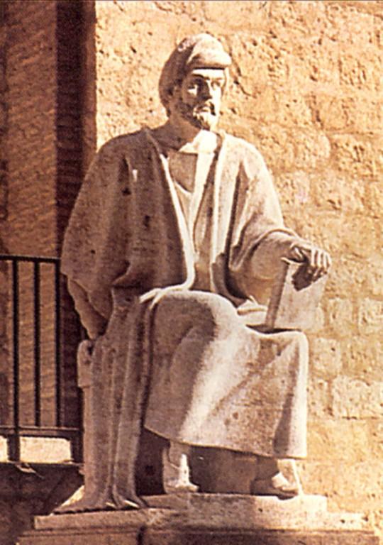 Estátua de Averróes em Córdoba, Espanha