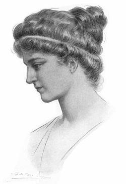 Hipátia, em gravura de Elbert Hubbard (1908)
