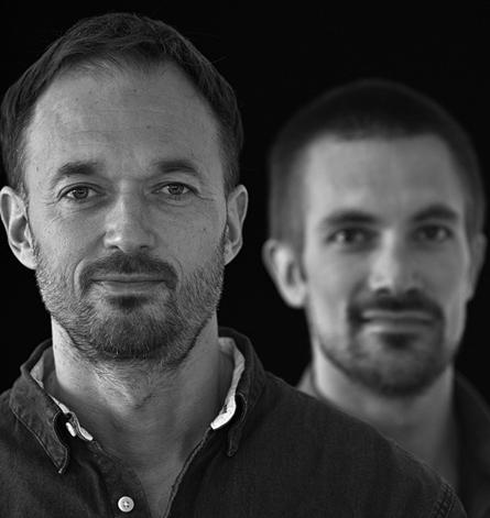 O diretor de 'Sumé...', Inuk Silis Høegh (esq.), e o produtor criativo, Emile H. Péronard