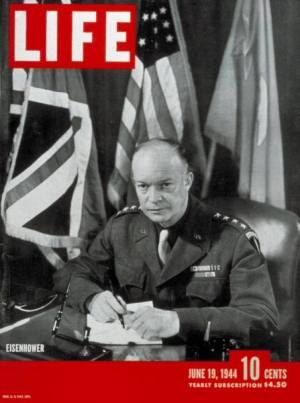 Capa de 19 de junho de 1944, com Dwight Eisenhower (Foto: Reprodução)