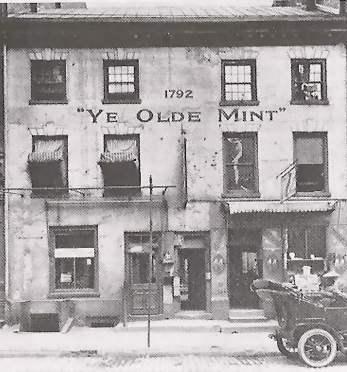 """Primeira Casa da Moeda - """"Mint"""" - dos EUA, na Filadélfia, capital do país na época"""