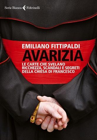 Capa da edição italiana de 'Avarizia', livro de Emiliano Fittipaldi