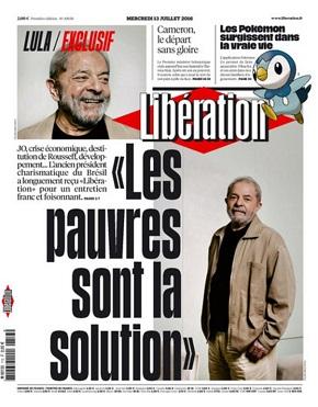 Lula é capa de edição do jornal Libération
