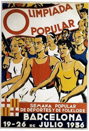 Arte produzida para a divulgação da Olimpíada Popular