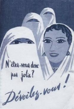 Cartaz francês de 1958 promoveu 'desvelização' na Argélia