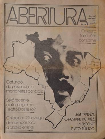 Reprodução-Único número do jornal Abertura