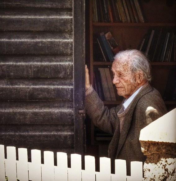 Nicanor Parra, em foto de 2014, aos 100 anos (Foto: Wikimedia Commons)