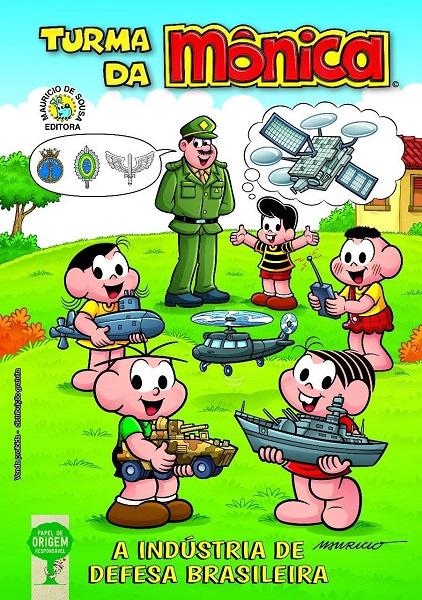 Reprodução da capa do gibi 'A Indústria de Defesa Brasileira'