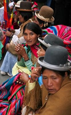 Ato no centro de La Paz em 2009