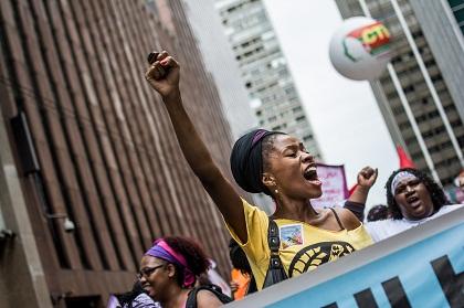 Marcha das Mulheres no último dia 08 de março, em São Paulo. Foto: Mídia Ninja