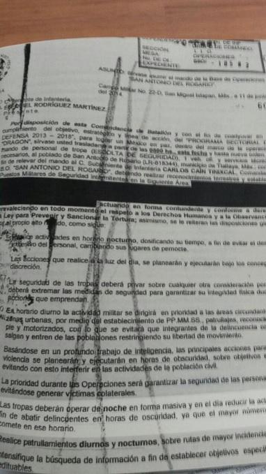 Relatório da ONG contém documento emitido pelo Exército em se lê a ordem para 'abater' civis