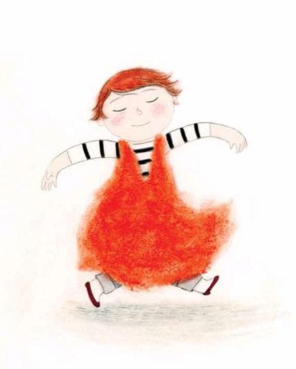 Morris Micklewhite e seu vestido laranja, livro de Christine Baldacchino
