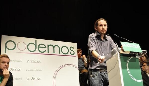"""Pablo Iglesias, impulsor do Podemos: """"disseram nas praças que, sim, é possível, e nós dizemos hoje que podemos"""""""