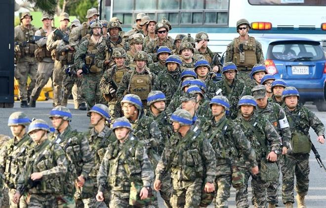 Resultado de imagem para manobra militar coreia do sul eua