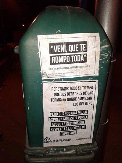 Cartazes da campanha promovida pela Acción Respeto