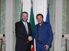Após receber Araújo, ultranacionalista Salvini diz que Brasil e Itália estão em sintonia