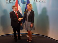 Chanceler de Cuba se reúne com representante da UE em Bruxelas