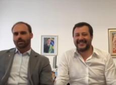 Eduardo Bolsonaro se encontra com Salvini em giro pela extrema direita europeia