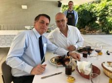 Embaixada de Israel divulga foto de almoço com Bolsonaro e esconde prato servido