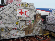 Venezuela recebe primeiro carregamento de insumos médicos da Cruz Vermelha