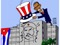 Charge do Latuff: Obama visita Cuba
