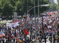 Greve geral e chegada da ONU marcam 10º dia consecutivo de protestos no Chile