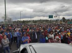 Equador: indígenas marcham rumo ao palácio presidencial em Quito