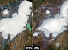 Nasa divulga fotos da primeira geleira islandesa declarada morta