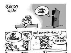 Cartunista Laerte envia carta a Lula em forma de tirinha