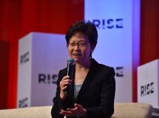 Líder de Hong Kong nega intenção de renunciar após vazamento de áudio