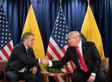 Trump discute crise na Venezuela com presidente da Colômbia
