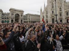 Dezenas de milhares protestam contra a extrema direita na Itália