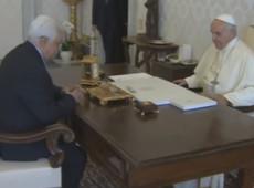 Em reunião com líder palestino, Papa defende processo de paz entre Israel e nação árabe