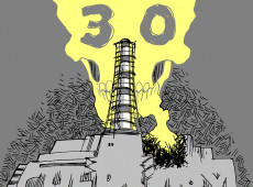 Charge do Latuff: 30 anos do desastre de Chernobyl