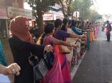 Muro de três milhões de mulheres pede justiça de gênero na Índia