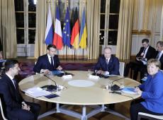 Putin e Zelenski se encontram na França para discutir conflito no leste da Ucrânia