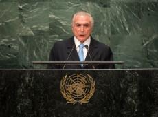 Em último discurso na ONU como presidente, Temer critica unilateralismo e intolerância