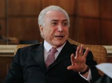 Impeachment de Dilma foi golpe, admite Temer