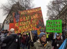 Greve geral contra reforma da previdência paralisa a França