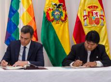 Na Bolívia, Pedro Sánchez e Evo Morales definem acordos de integração