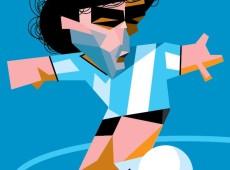 Charge do Carvall: Maradona, malandro de responsa