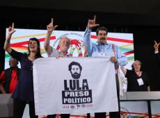 Ao lado de Stedile, Maduro pede 'Lula livre' e diz que Venezuela paga o preço de sua valentia