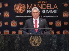 Presidente de Cuba chega a Nova York para participar da Assembleia Geral da ONU