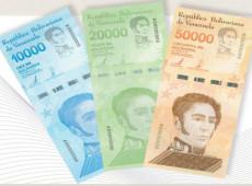 BC da Venezuela põe em circulação notas de 10.000, 20.000 e 50.000 bolívares