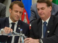 Macron diz que Bolsonaro mentiu e que França vai se opor a acordo com Mercosul