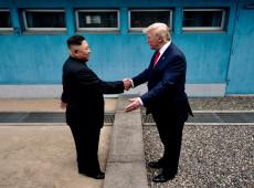 Trump cruza fronteira da Coreia do Norte e se encontra com Kim Jong-un