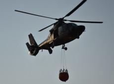 Evo contrata mais três helicópteros para combater incêndios na Amazônia boliviana